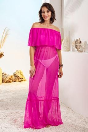 Pierre Cardin Kadın Fuşya İspanyol Elbise Pareo 211806