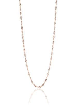 Söğütlü Silver Kadın Gümüş Rose Singapur Modeli 60 Cm Zincir SGTL8936