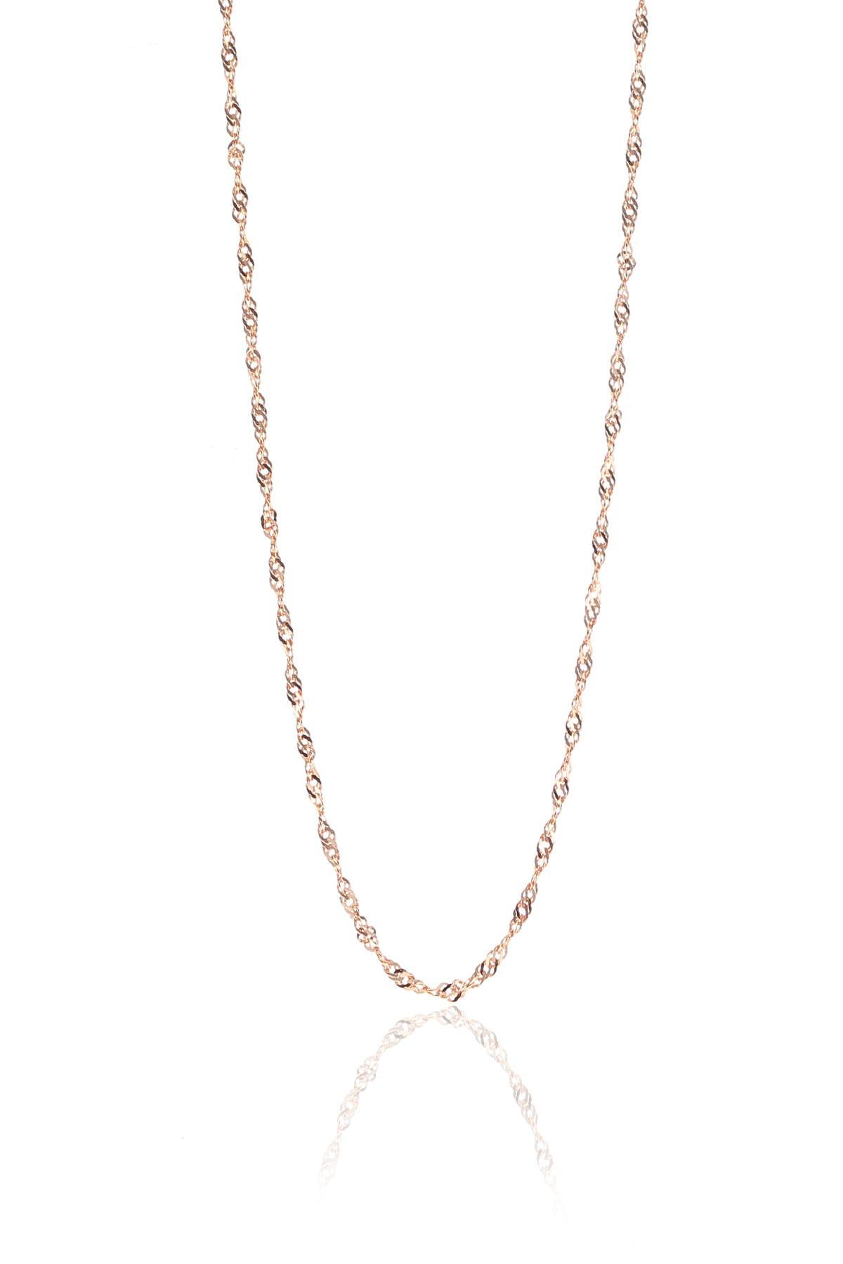 Söğütlü Silver Kadın Gümüş Rose Singapur Modeli 60 Cm Zincir SGTL8936 1
