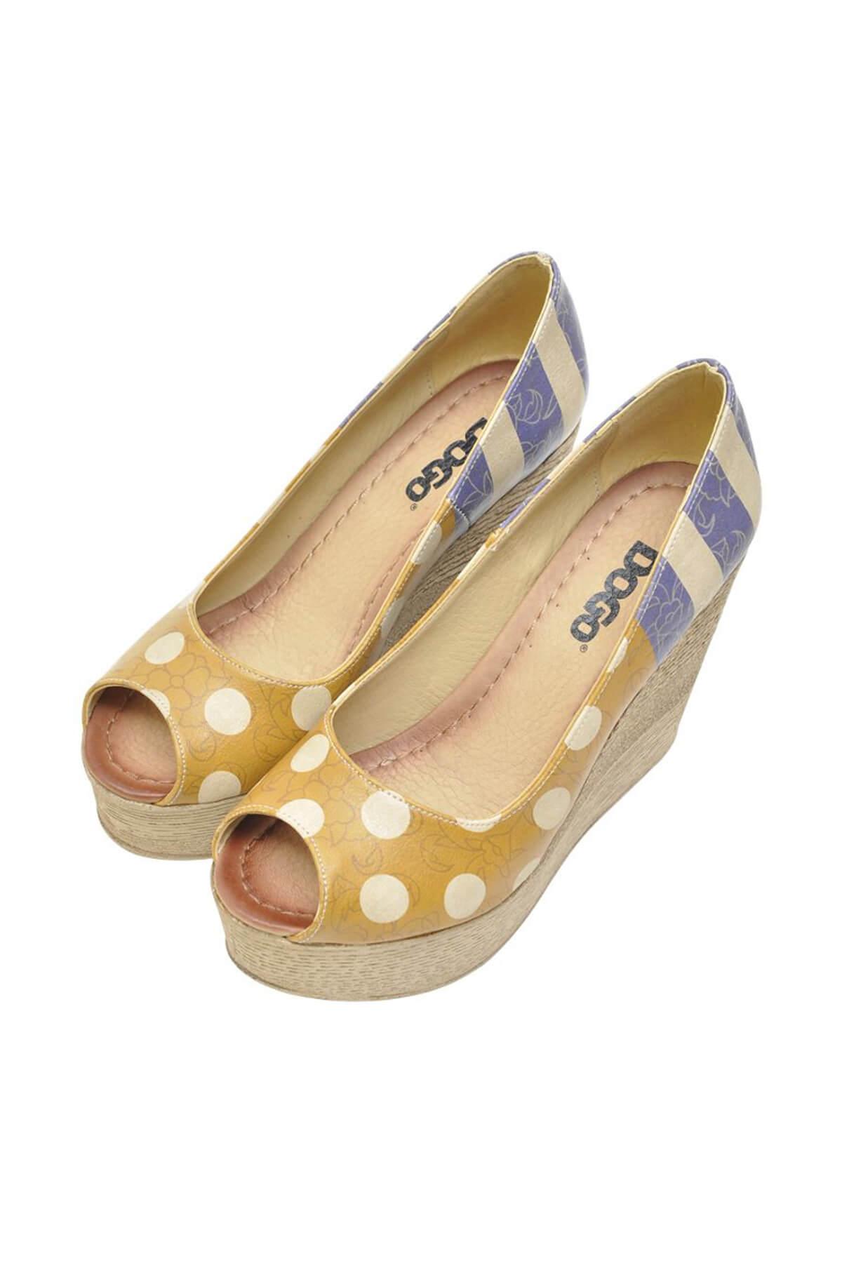 Dogo Multi Kadın Dolgu Topuklu Ayakkabı DGS017-MGD004 2