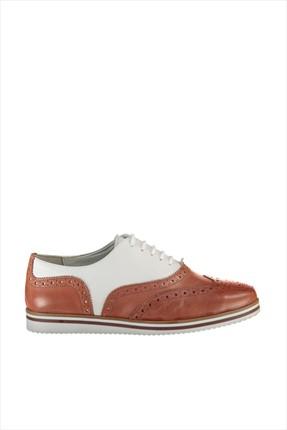 İnci Hakiki Deri Koyu Turuncu Kadın Ayakkabı 120120028010