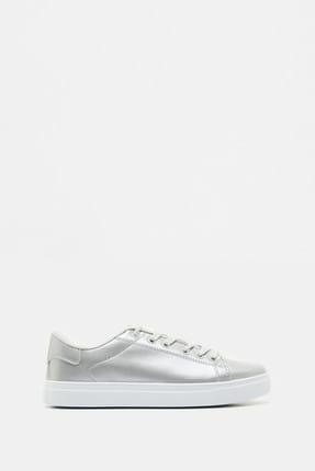 Koton Kadın Gri Bağcıklı Ayakkabı 9YAL21027AA