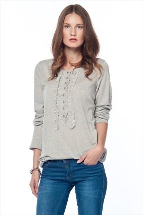 Tommy Hilfiger Gri Kadın Sweatshirt 1M87603755-002