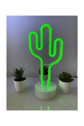 HediyeFilesi Dekoratif Neon Kaktüs Led Işık Masa Dekoru Masa Gece Lambası
