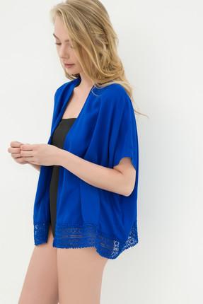 Koton Kadın Saks Kimono 6YAK68966OW