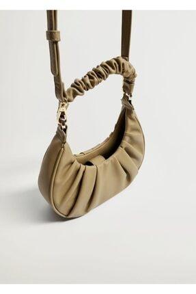 MANGO Woman Yuvarlak Hasır Çanta