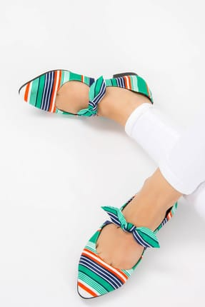 Fox Shoes Yeşil Kadın Babet F726820004