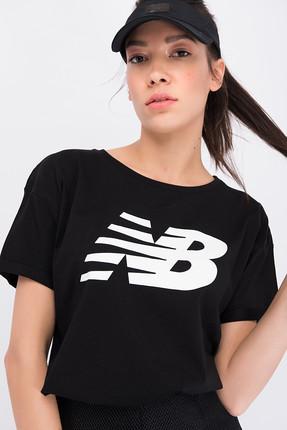 New Balance Kadın T-shirt - V-WTT807-BK