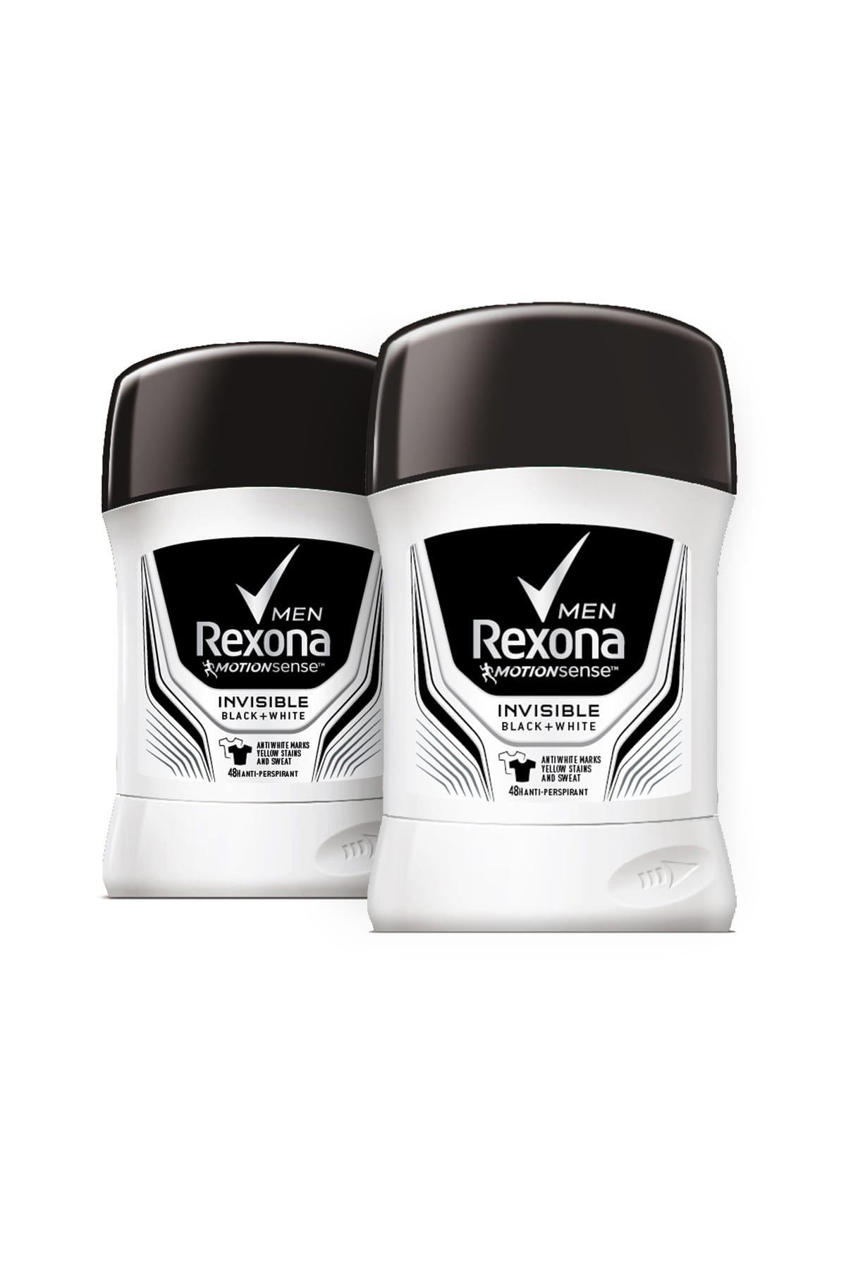 Rexona Erkek Deodorant Stick Invisible Black White 50 ml x2 1