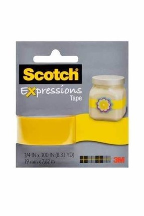 3M Scotch Renkli Dekoratif Bant Sarı Desenli