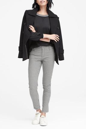 Banana Republic Kadın Siyah Beyaz Sloan Skinny-Fit Pantolon 366797