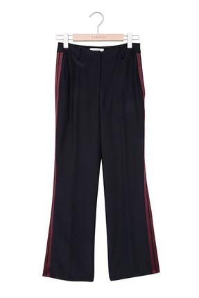 Yargıcı Kadın Siyah Bol Paça Yan Panel Detaylı Pantolon 5KKPN3130X