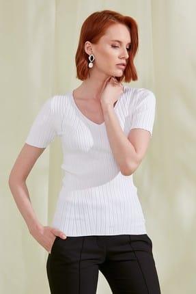 Journey Kadın Beyaz Triko Bluz 19YTRK704