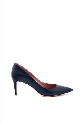 Tanca Kadın Lacivert Hakiki Deri Topuklu Ayakkabı 152TCK557 21694