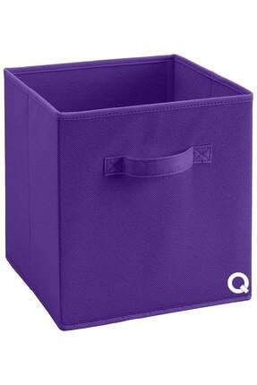 Rani Mobilya Rani Q1 Medium Çok Amaçlı Dolap Içi Düzenleyici Kutu Dekoratif Saklama Kutusu Raf Organizer Mor