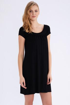 AYYILDIZ Kadın Siyah Kısa Kollu Penye Elbise 59333