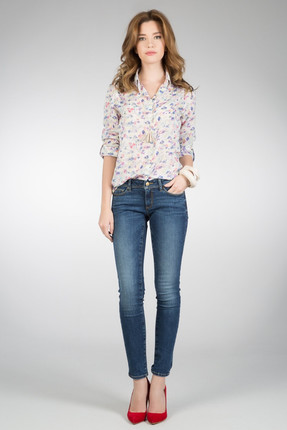 Colin's Super Slim Fit Dar Paça Düşük Bel 757 Sally Lacivert Kadın Pantolon CL1013416