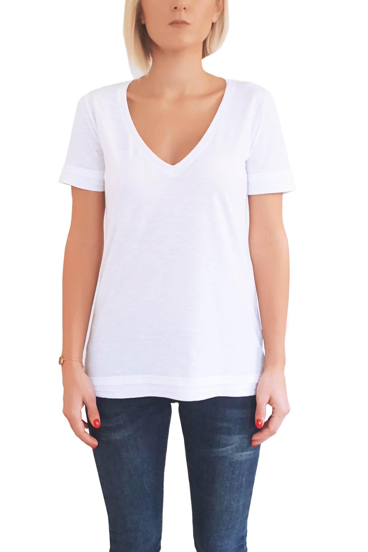 MOF Kadın Beyaz T-Shirt DVYT-B 1