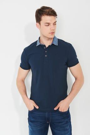 Mavi Denim Yaka Detaylı Lacivert Polo Tişört