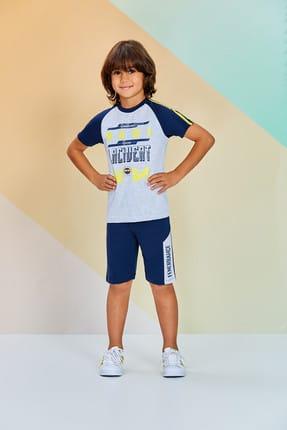 Fenerbahçe Açık Gri Lisanslı Unisex Çocuk Bermuda Takım Açık Gri 7382