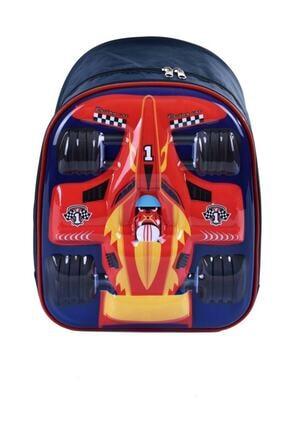 Las Vegas Polo Club Cars Şimşek Mcqueen Formüla Kabartmalı 3d Anaokulu Kreş Günlük Kullanım Sırt Çantası