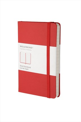 Moleskine Cep Boy Kırmızı 192 Sayfa Çizgili Defter