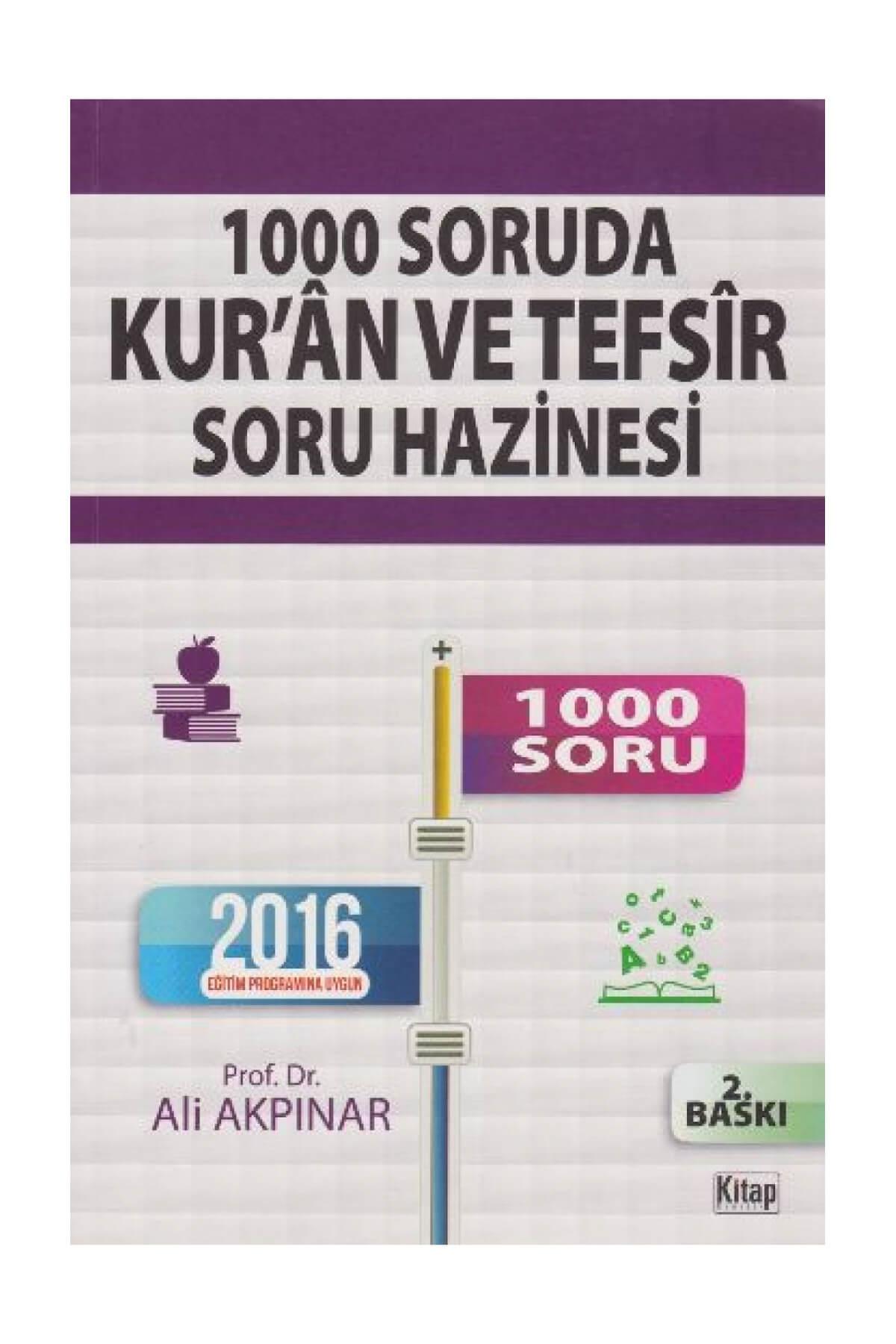 Kitap Dünyası 1000 Soruda Kur'an ve Tefsir Soru Hazinesi 1