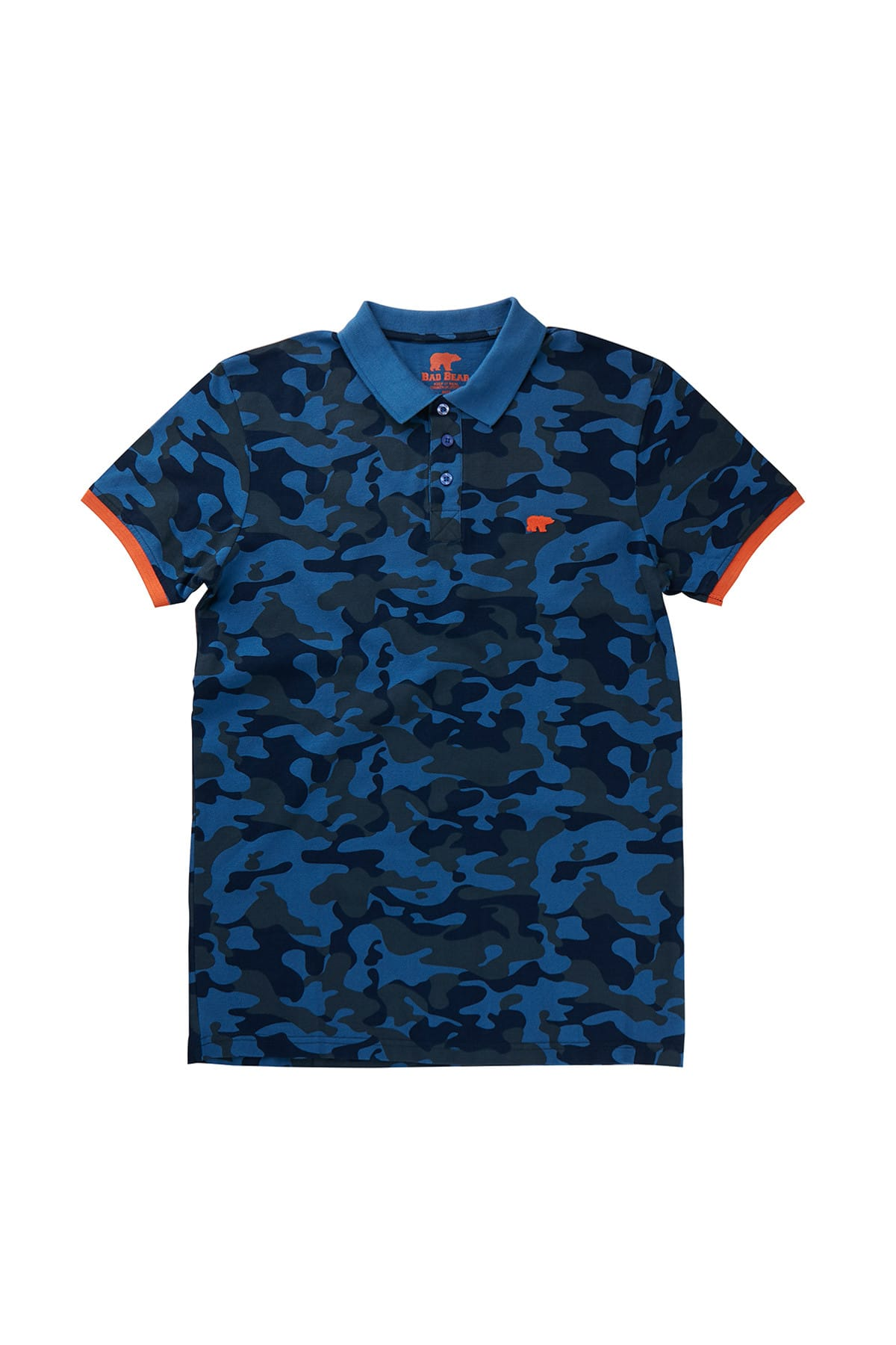 Bad Bear CAMO PIQUE POLO NAVY 1