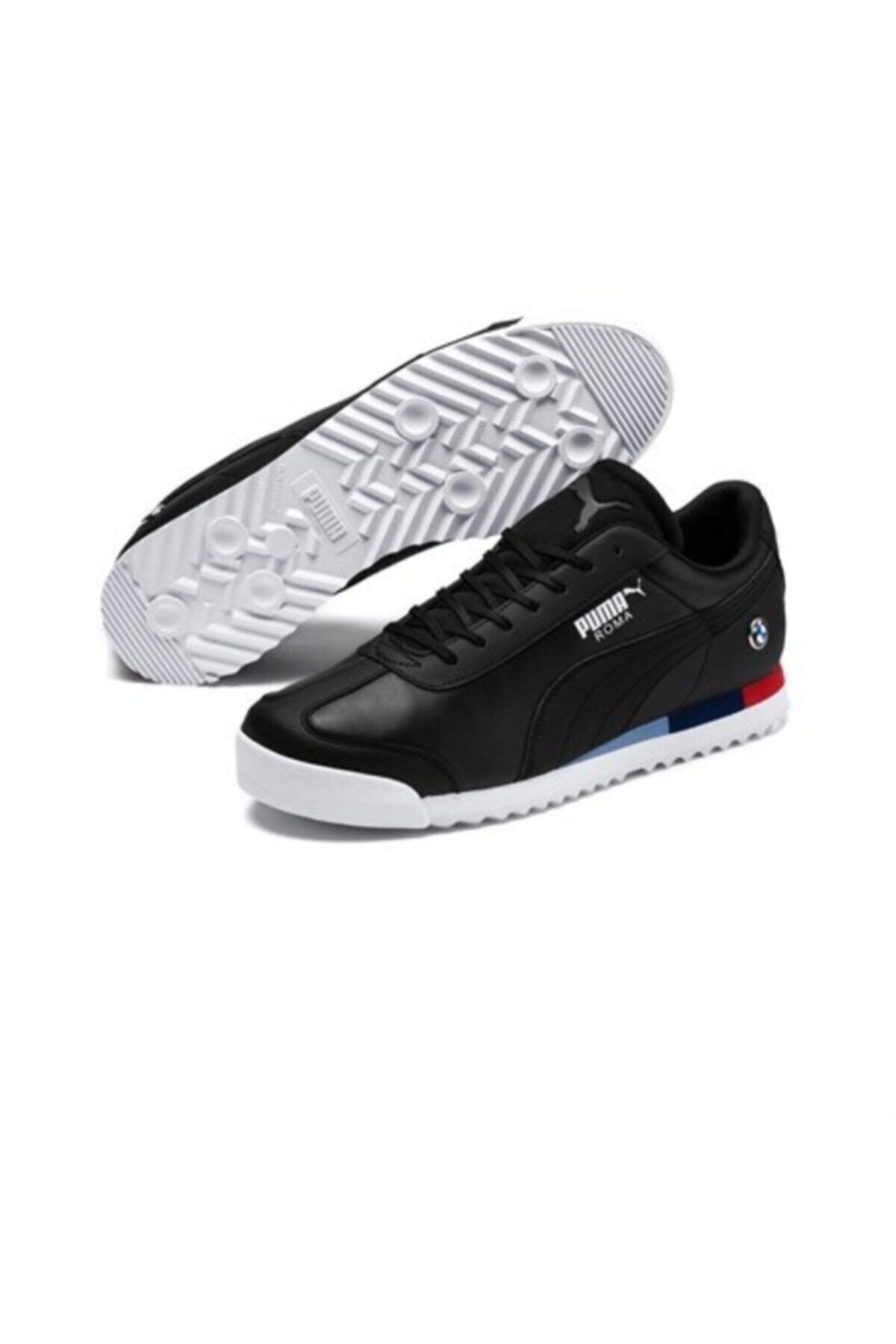 Puma Erkek Siyah Bmw Mms Roma Spor Ayakkabı 1