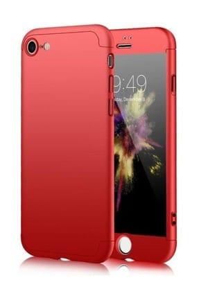 Melefoni iPhone 6 6S Plus 360 Kırmızı Full Koruma Kılıfı