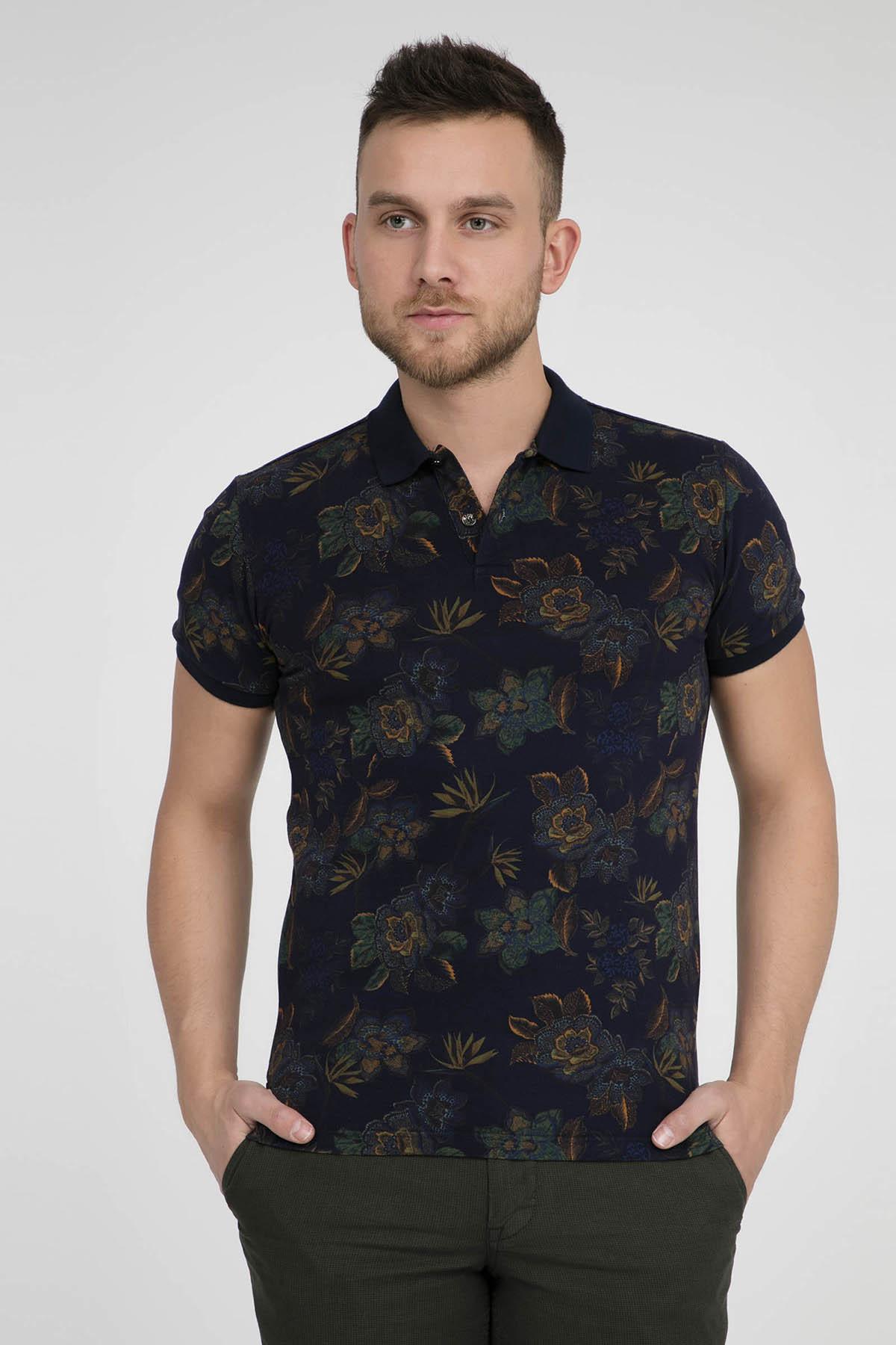 ETRO Erkek Lacivert T-Shirt 1Y040 4070 202 1