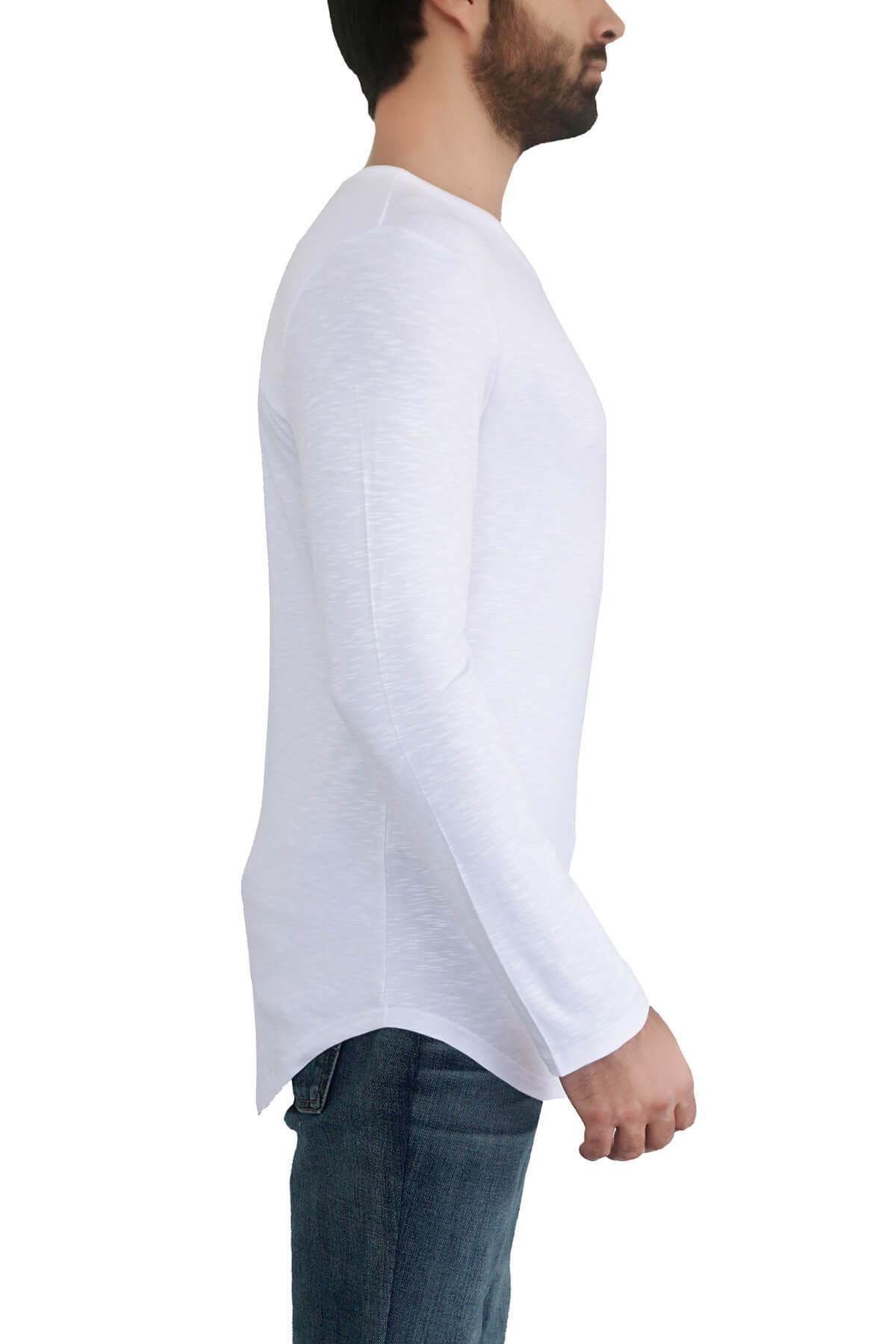 MOF Erkek Beyaz T-Shirt SYUKOET-B 2