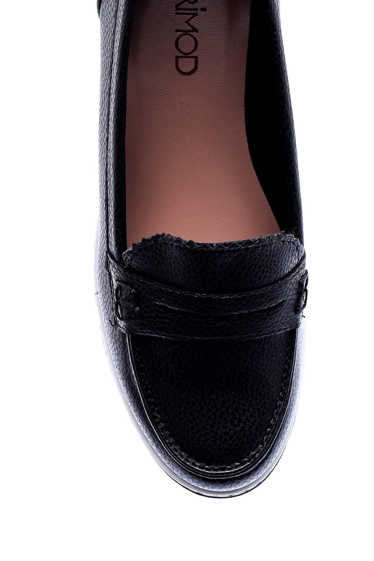 Derimod Siyah Kadın Loafer Ayakkabı 2