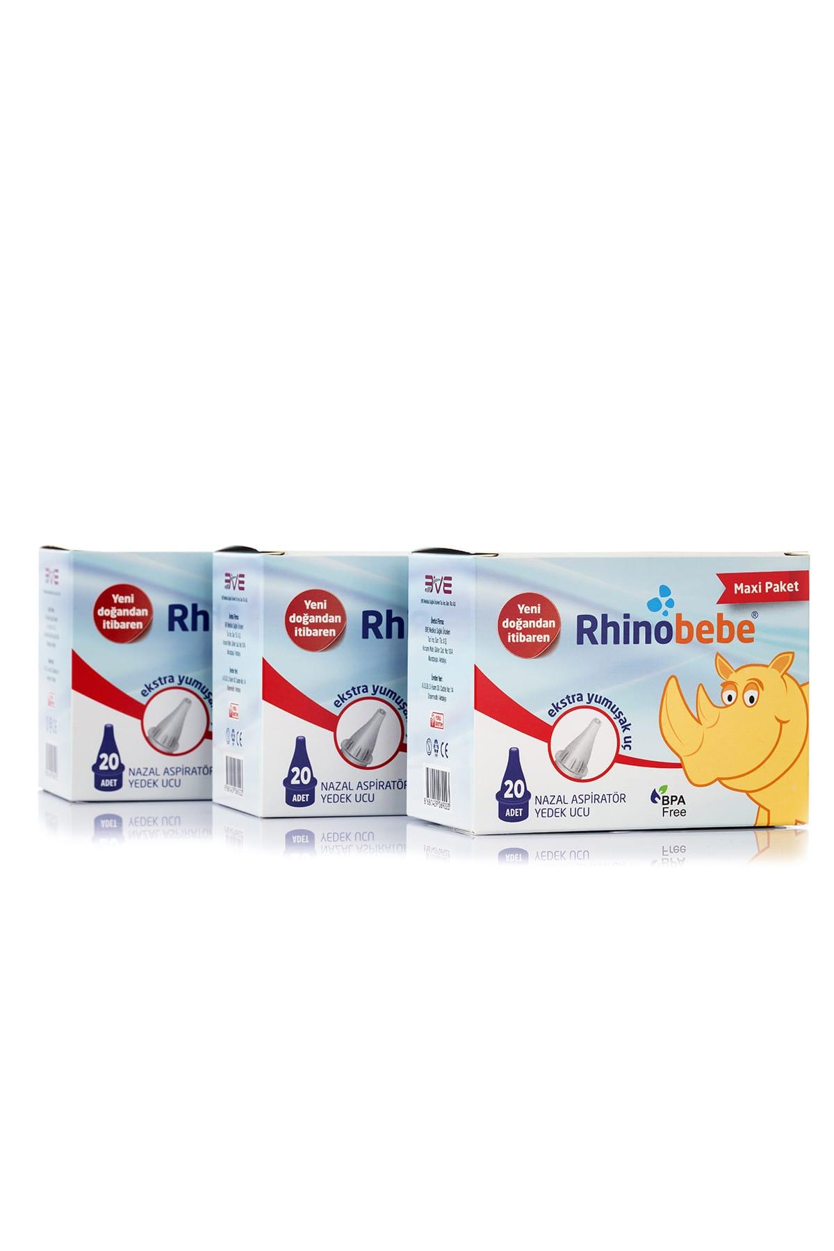 Rhinobebe Bebek Burun Aspiratörü Yedek Uç Maxi 3 Paket 1