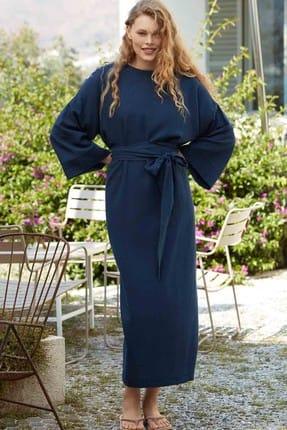 Penyemood Kadın Lacivert Uzun Elbise
