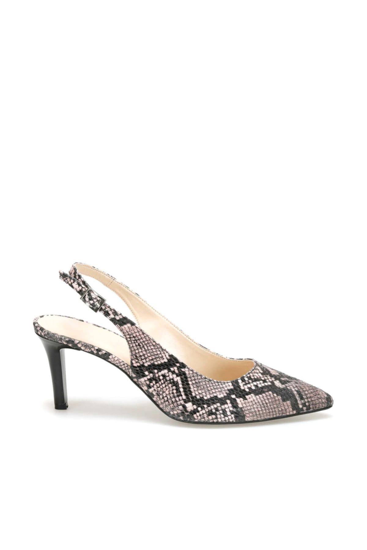 Miss F Ds19150 Yılan Rengi Pudra Kadın Ayakkabı 100443292 2