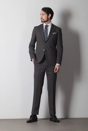 Ramsey Pilesiz Micro Dokuma Takım Elbise - RP10109333