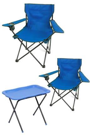 Mira - Romee Mira - Rome Çantalı Kamp Sandalyesi + Kamp Sehpası Mavi