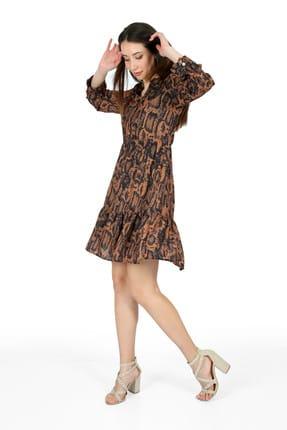 Pitti Kadın Karışık Leopar Elbise  51059