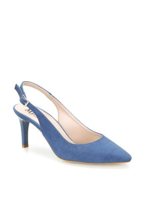 Miss F Ds19073 Mavi Kadın Topuklu Ayakkabı 100383005