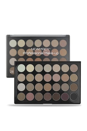 Newmacy 28'li Göz Farı Paleti - 28 Colors Eyeshadow Palette 03 Smokey Tonlar 8681702001612