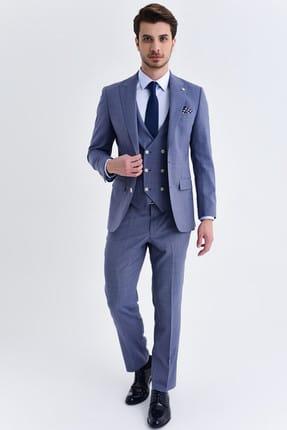 Hatemoğlu Slim Fit Mavi Takım Elbise 33201319C021