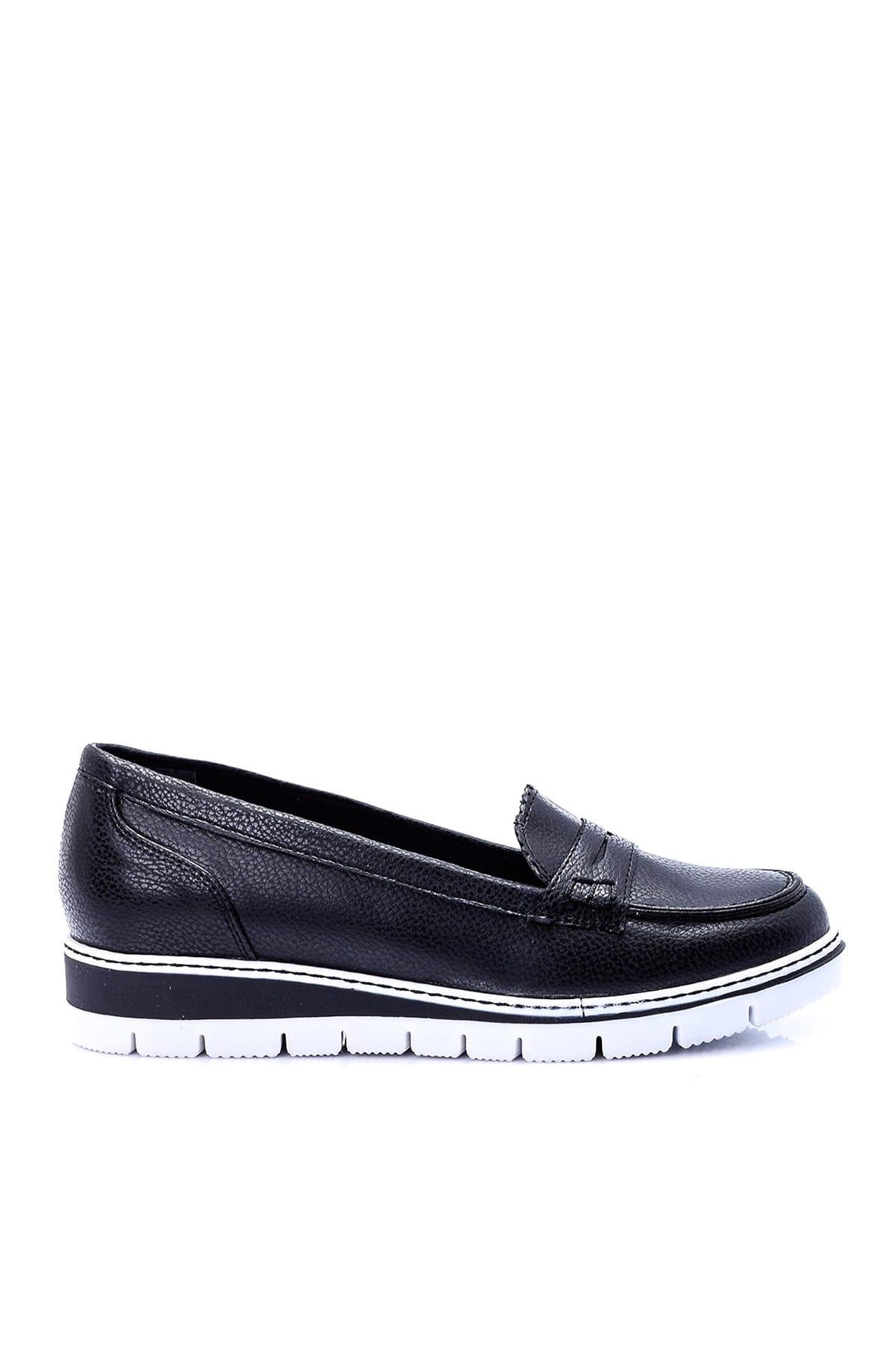 Derimod Siyah Kadın Loafer Ayakkabı 1
