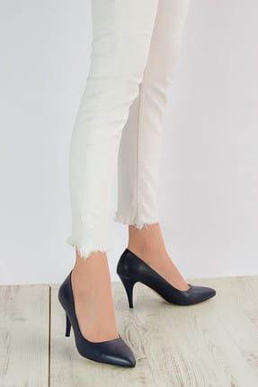 Shoes Time Lacivert Kadın Topuklu Ayakkabı 909