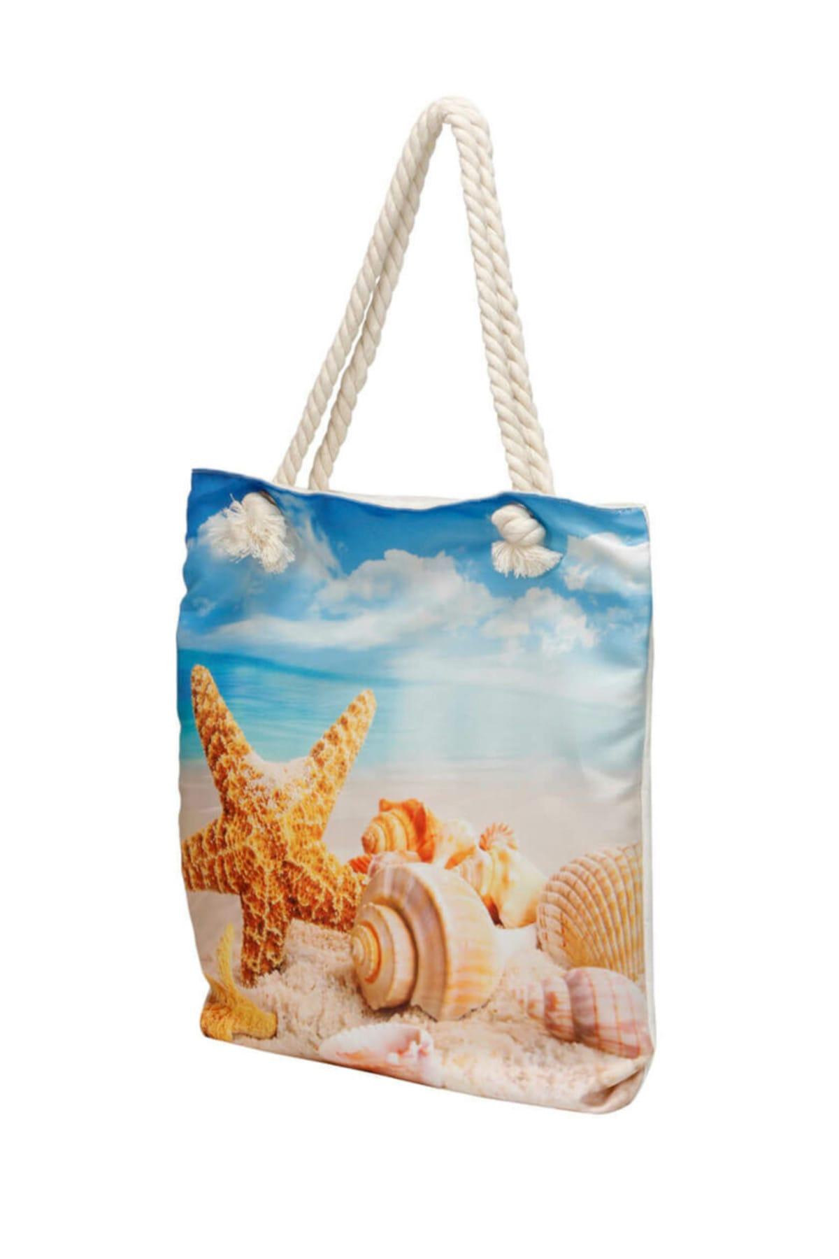 Butigo Wdrn1500 Lacivert Kadın Plaj Çantası 100374344 2