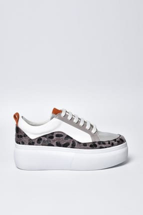 Jeep Beyaz Leopar Kadın Spor Ayakkabı 9Y2SAJ0004