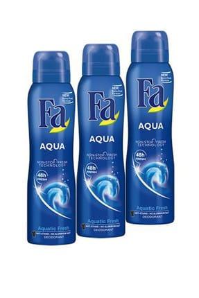 Fa Aqua Deodorant 150 ml x 3 Adet