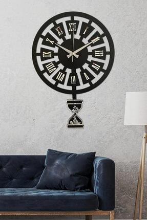 Sokaktaki Hediyem Modern Zaman Gümüş Premium Sallanır Sarkaçlı Duvar Saati
