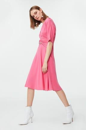 İpekyol Kadın Pembe Tokalı Elbise IS1190002473033
