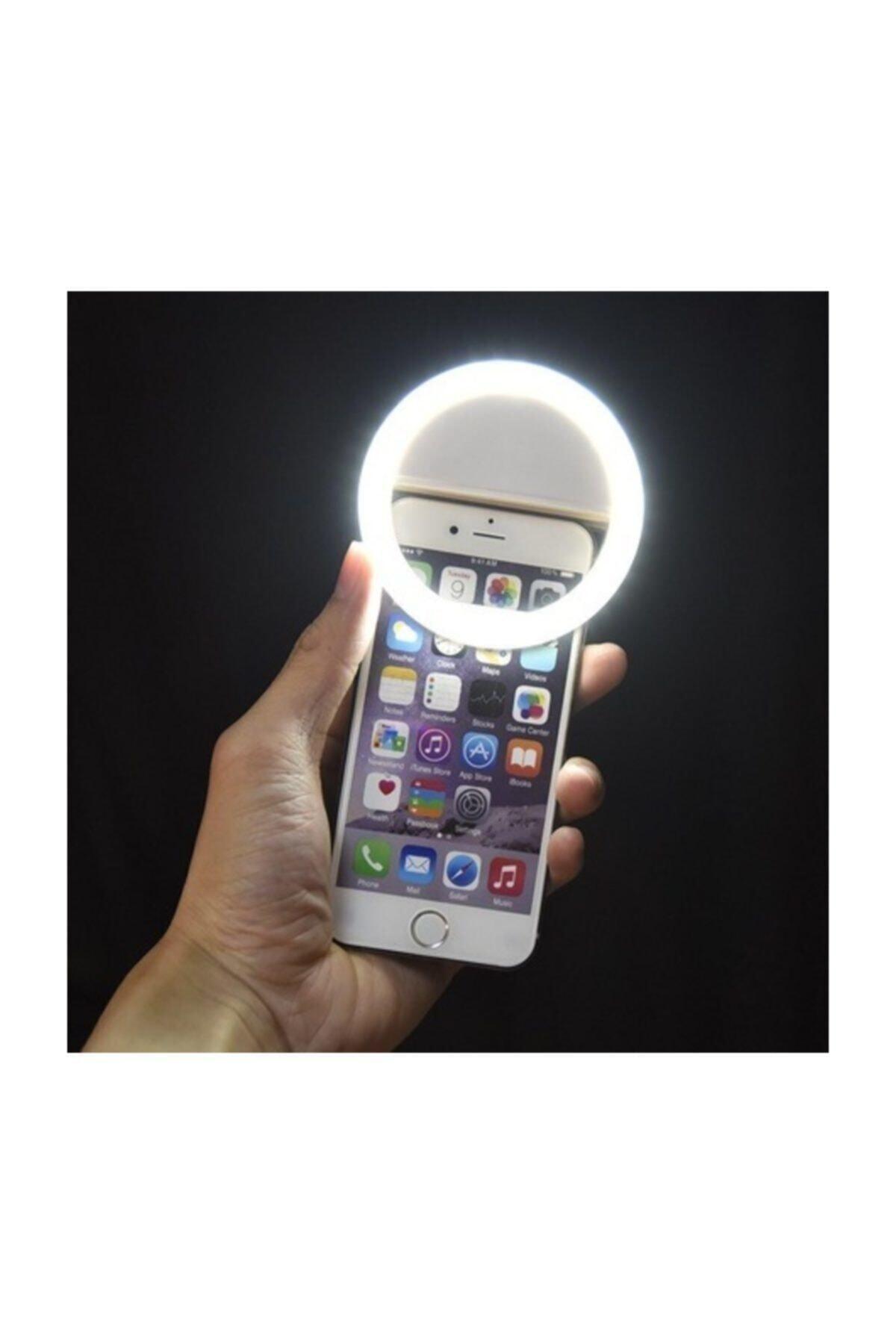Soffany Selfie Işığı 3 Kademeli Led Aydınlatma Telefon Aparatı 1